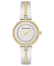 Women's Two-Tone Bangle Bracelet Watch 30mm