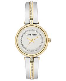 Anne Klein Women's Two-Tone Bangle Bracelet Watch 30mm