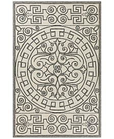 "KAS Harbor Irongate 4246 Ivory/Grey 5' x 7'6"" Indoor/Outdoor Area Rug"