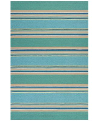 Harbor Stripes 4230 Ocean 2' x 3' Indoor/Outdoor Area Rug