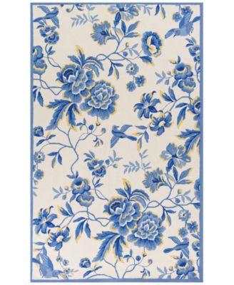 "CLOSEOUT! Sonesta Provence 2032 Ivory/Blue 3'3"" x 5'3"" Area Rug"