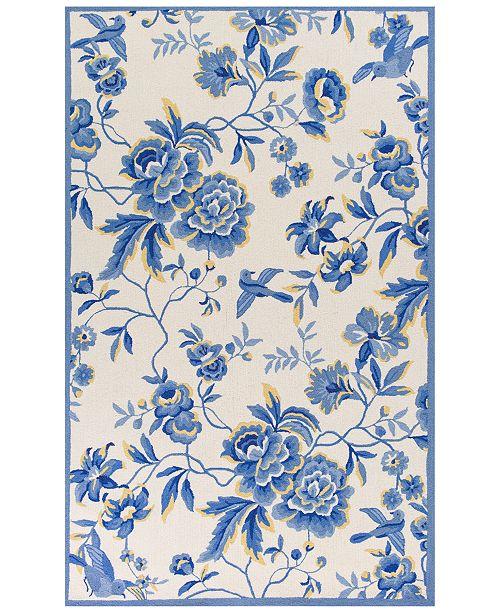 "Kas CLOSEOUT! Sonesta Provence 2032 Ivory/Blue 3'3"" x 5'3"" Area Rug"