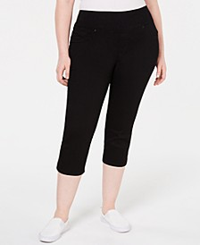 Plus Size Pull-On Sculpting Capri Jeans
