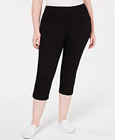 Lee Platinum Plus Size Pull-On Sculpting Capri Jeans