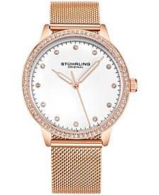 Original Women's Gold-Tone Case and Mesh Bracelet, Gold Dial Watch