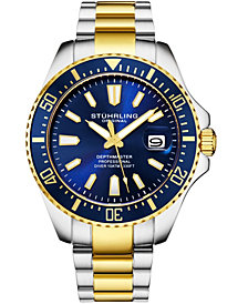 Stuhrling Original Men's Diver Bracelet Watch