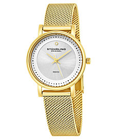 Stuhrling Original Stainless Steel Mesh Bracelet Watch