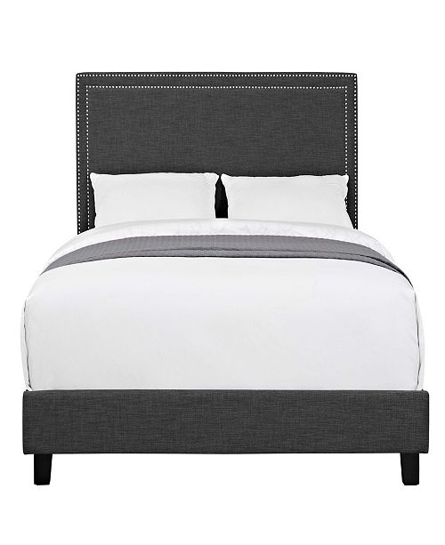 Picket House Furnishings Emery Upholstered Queen Platform Bed
