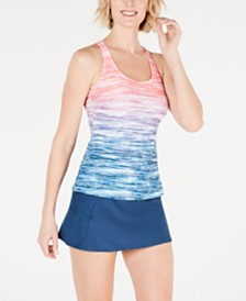GO by Gossip Ombré Tankini Top & Swim Skirt