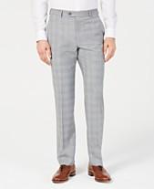 1b61671bbdc20c Michael Kors Men's Classic-Fit Light Gray/Light Blue Plaid Suit Pants