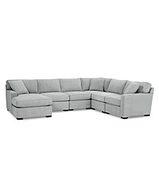 Radley Fabric 6-Pc. Chaise Sectional Sofa with Corner Piece, Created for Macy's