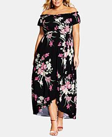 City Chic Trendy Plus Size Lady Floral Maxi Dress