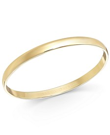 Gold-Tone Polished Bangle Bracelet