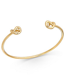 kate spade new york Gold-Tone Crystal Accented Wire Cuff Bracelet