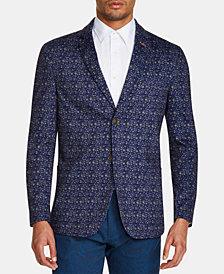 Tallia Men's Slim-Fit Stretch Floral Knit Blazer