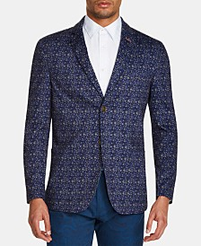 Tallia Men's Slim-Fit Stretch Floral Knit Blazer