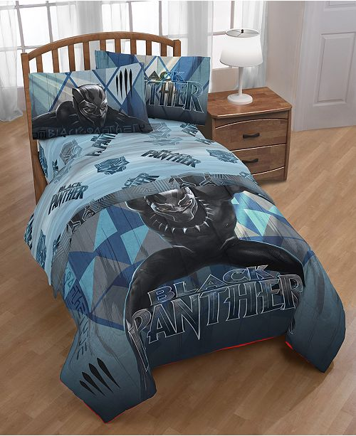 Black Panther Movie Marvel Black Panther Blue Tribe 4-Pc. Twin Bed in a Bag