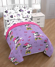 Disney Minnie Mouse Purple Love Twin 4-Pc. Bed in a Bag