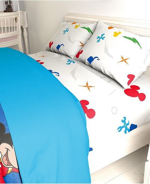 Disney Mickey Mouse 3-Pc. Twin Sheet Set