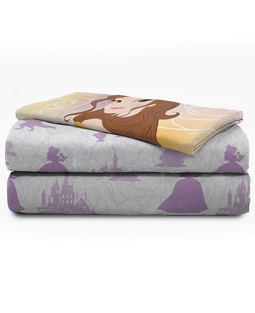 Star Wars Disney Beauty and The Beast 4 Piece Full Sheet Set