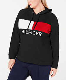 Tommy Hilfiger Sport Plus Size Heritage Colorblocked Hoodie
