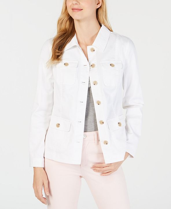 Charter Club 4-Pocket Denim Jacket, Created for Macy's