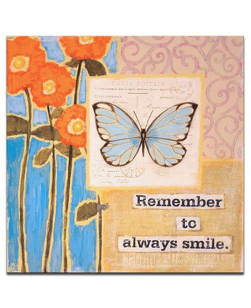 "Ready2HangArt 'Joyful Memories II' Butterfly Canvas Wall Art - 20"" x 20"""