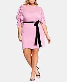 Trendy Plus Size Kimono-Sleeve Fit & Flare Dress