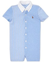 c26de1c25987 Polo Ralph Lauren Baby Boys Knit Oxford Cotton Shortall