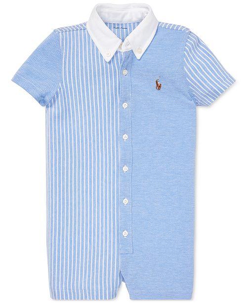 f892140a2 Polo Ralph Lauren Baby Boys Knit Oxford Cotton Shortall & Reviews ...