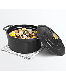 Martha Stewart Collection Enameled Cast Iron 6-Qt. Covered Dutch Oven, Created for Macy's