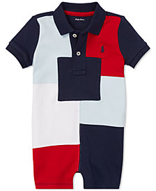 Polo Ralph Lauren Baby Boys Patchwork Cotton Shortall