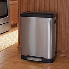 Stainless Steel 50L Summit Rectangle Step Trash Bin