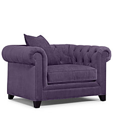 "Martha Stewart Collection Saybridge 52"" Fabric Living Room Armchair - Custom Colors, Created for Macy's"