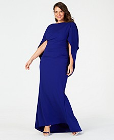 Plus Size Capelet Gown