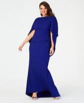 d0b2221b7f9 Betsy   Adam Plus Size Capelet Gown