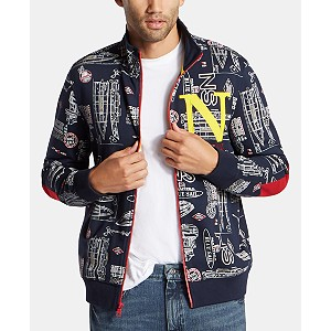Macys deals on Nautica Mens Big & Tall Blue Sail Printed Track Jacket