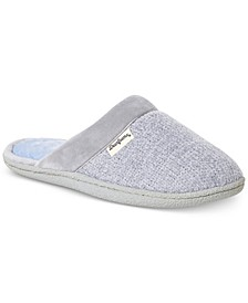 Women's Samantha Chenille Clog Slippers with Quilted Sock, Online Only