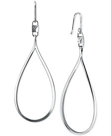 Michael Kors Sterling Silver Large Tear-Shape Drop Earrings