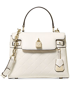 MICHAEL Michael Kors Gramercy Chain Embossed Leather Top Handle Satchel