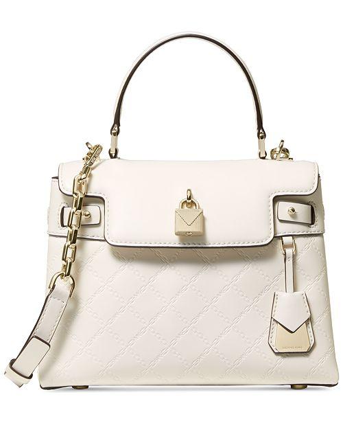 003ce33dbd2d ... Michael Kors Gramercy Chain Embossed Leather Top Handle Satchel ...