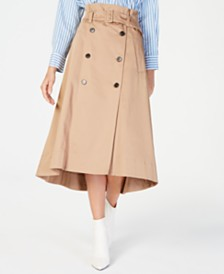 Marella Belted Trench Skirt
