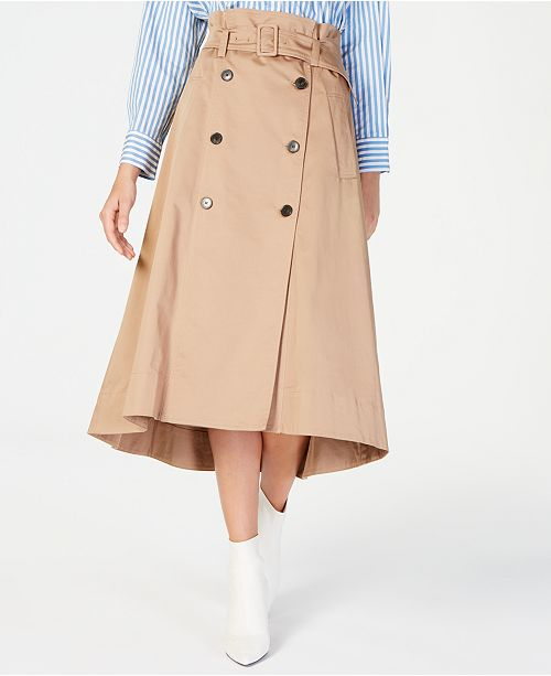 Skirtamp; Marella Trench Women Macy's Reviews Belted Skirts NPkXZ80wOn