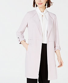 Bar III Wing-Lapel Topper Jacket, Created for Macy's