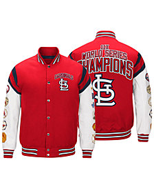 G-III Sports Men's St. Louis Cardinals Home Team Commemorative Varsity Jacket