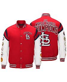 G-III Sports Men's St. Louis Cardinals Home Team Commemorative Varsity Jacket