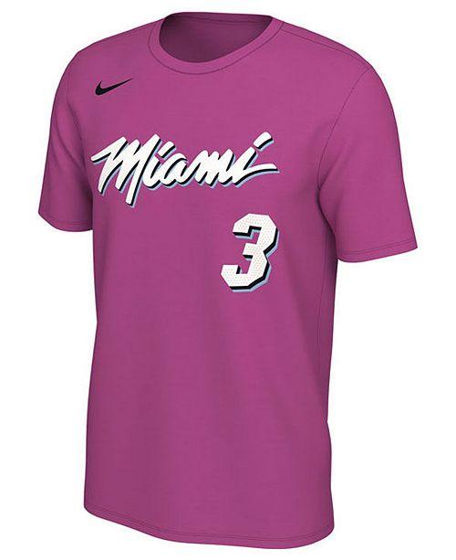 best website ab4dc 11826 Nike Men's Dwyane Wade Miami Heat Earned Edition Player T ...