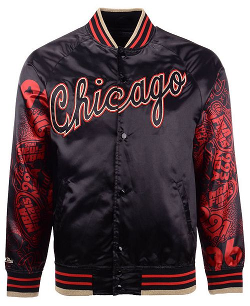 Mitchell & Ness Men's Chicago Bulls Chicago 6 Ring Collection Satin Jacket