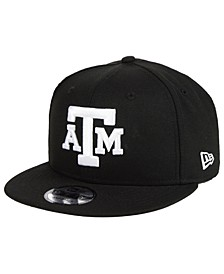 Texas A&M Aggies Black White Fashion 9FIFTY Snapback Cap