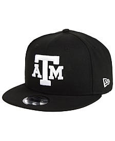 New Era Texas A&M Aggies Black White Fashion 9FIFTY Snapback Cap
